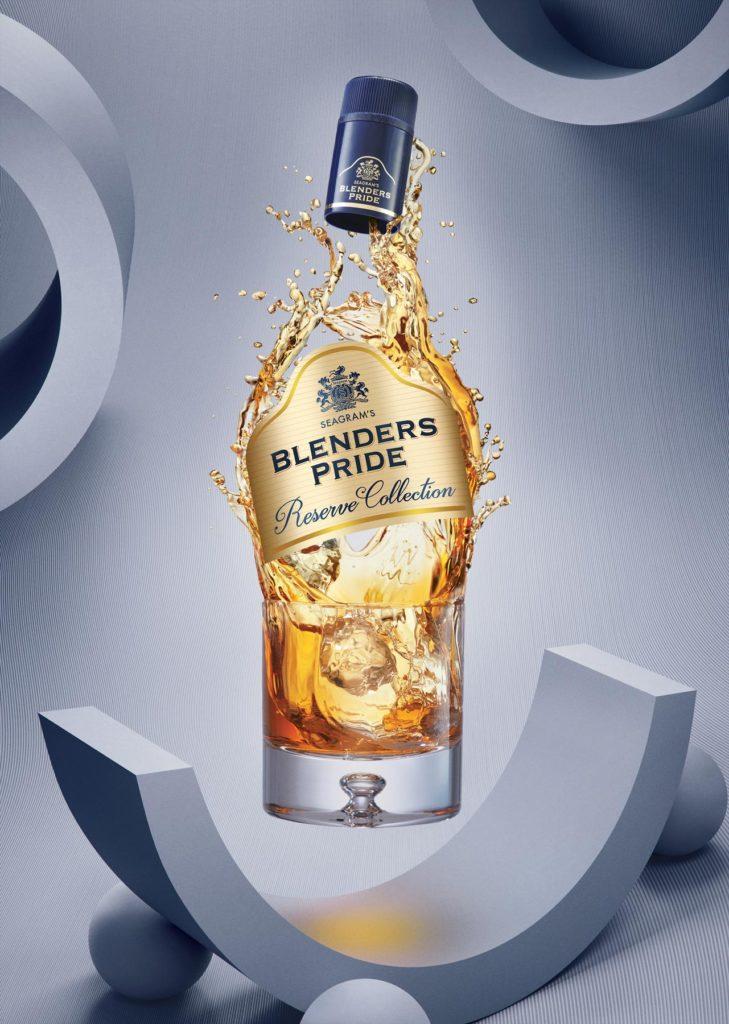 Blenders Pride whisky splash photography