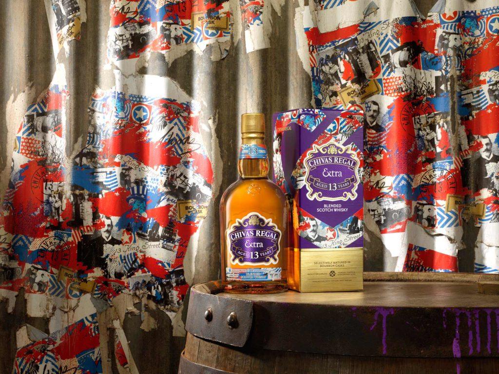 Chivas Regal Extra 13 Bourbon bottle and carton