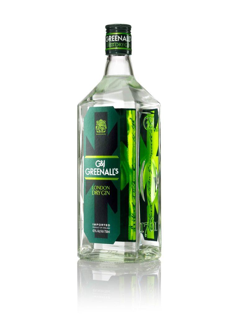 Greenall's Dry Gin bottle pack shot