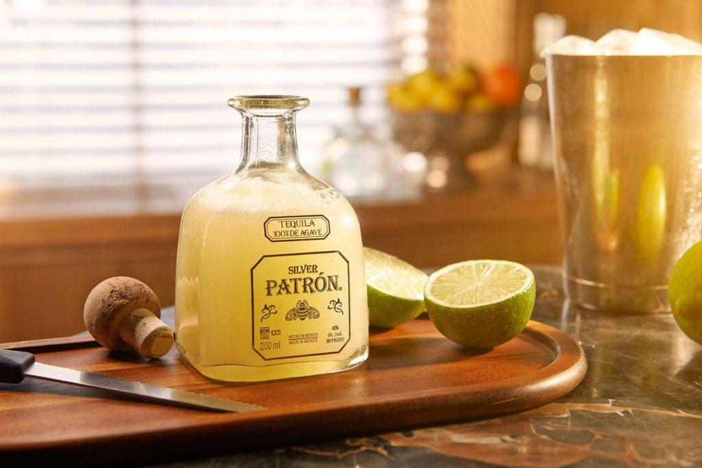 Patron Margarita serve