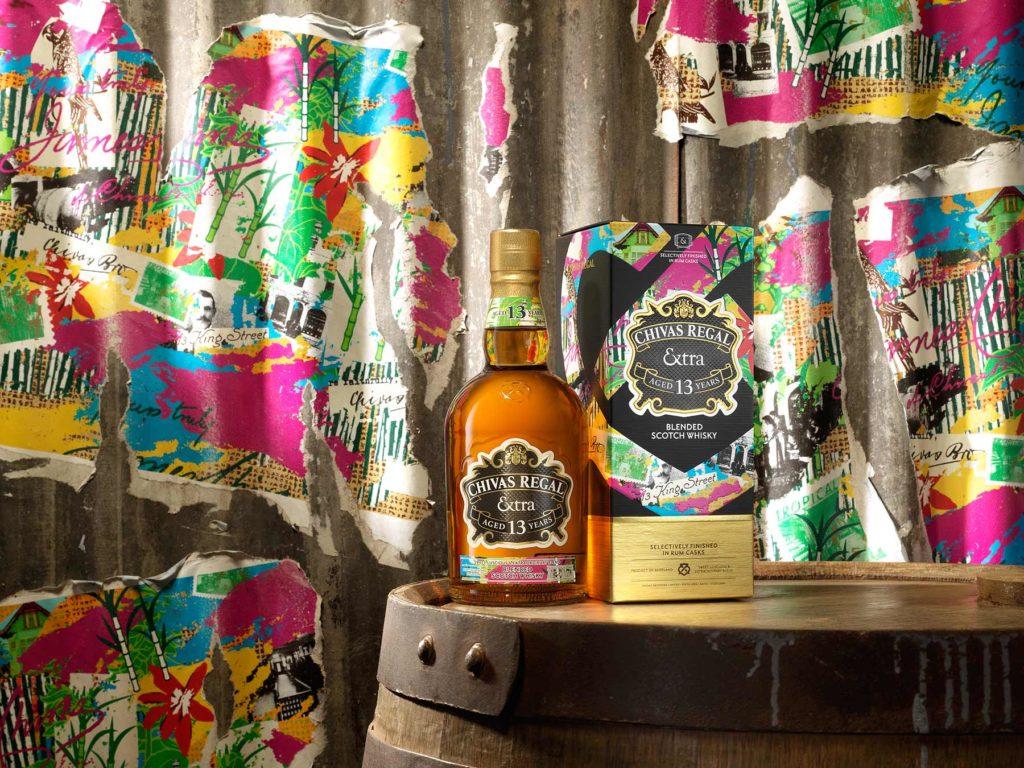 Chivas Regal Extra 13 Rum bottle and carton
