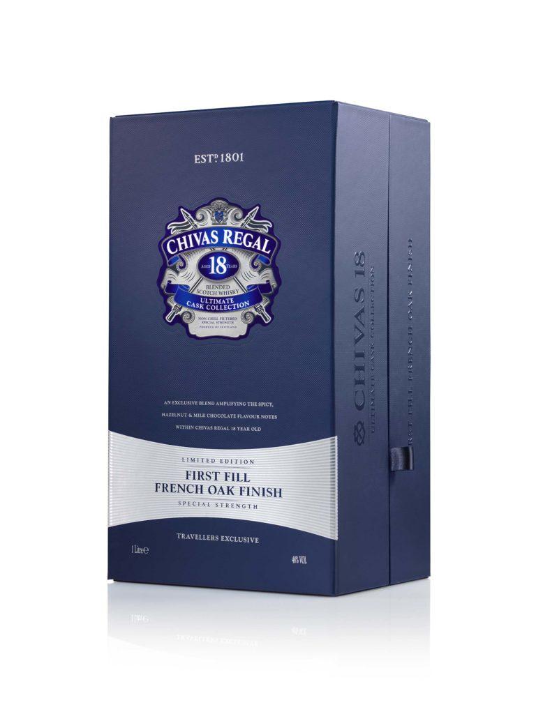 Chivas Regal 18 Ultimate Cask collection presentation box
